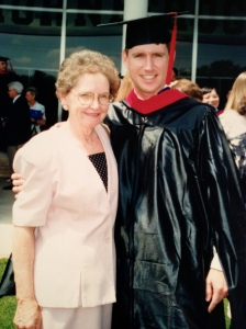 Here is my sweet mom when I graduated from seminary.