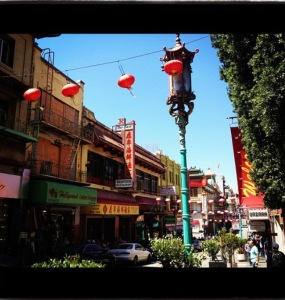 Our view of Chinatown in San Francisco back in 2012.